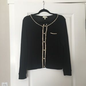 Monteau black sweater - functioning buttons